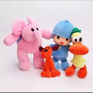 Pocoyo, Elly, Loula & Pato Characters